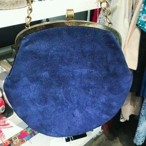 Vintage blue suede purse
